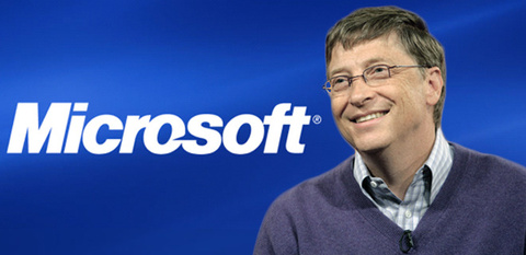 Bill Gates, con  Microsoft