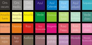 Tienes un sinfín de colores para poder armonizar tu negocio con el cliente.